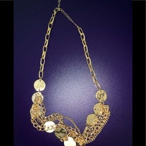 Costume gold tone necklace